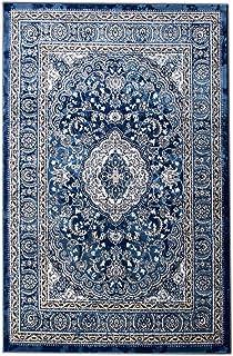 5 X 7 Area Rug Blue U0026 Ivory Oriental Medallion Rug For Living Room Dining  Room