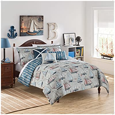 WAVERLY Kids Set Sail Reversible Bedding Collection, Full/Queen, Multicolor: Home & Kitchen