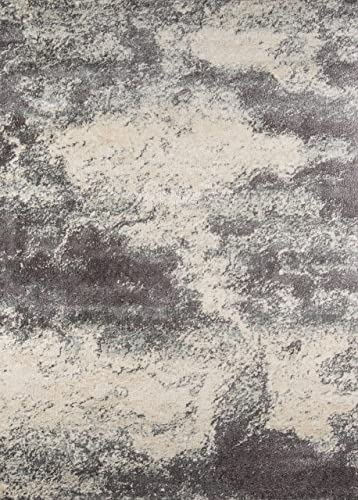 Nolita Rugs Landes Polyester and Polypropylene Smoke Area Rug 7'10″ X 9'10″