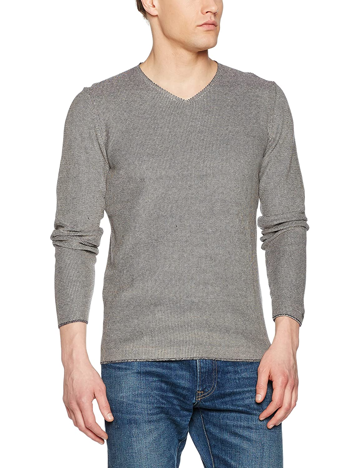 Nowadays Herren Two Collered Pullover