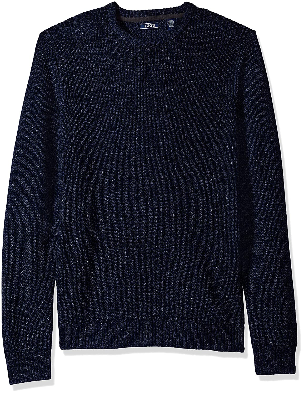IZOD Mens Newport Marled 7 Gauge Crewneck Sweater