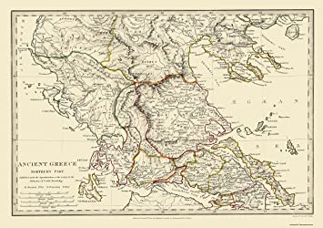 Amazon old greece map northern part ancient greece 1844 old greece map northern part ancient greece 1844 3263 x 23 gumiabroncs