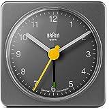 Braun BNC002GYGY Classic Analog Quartz Alarm Clock