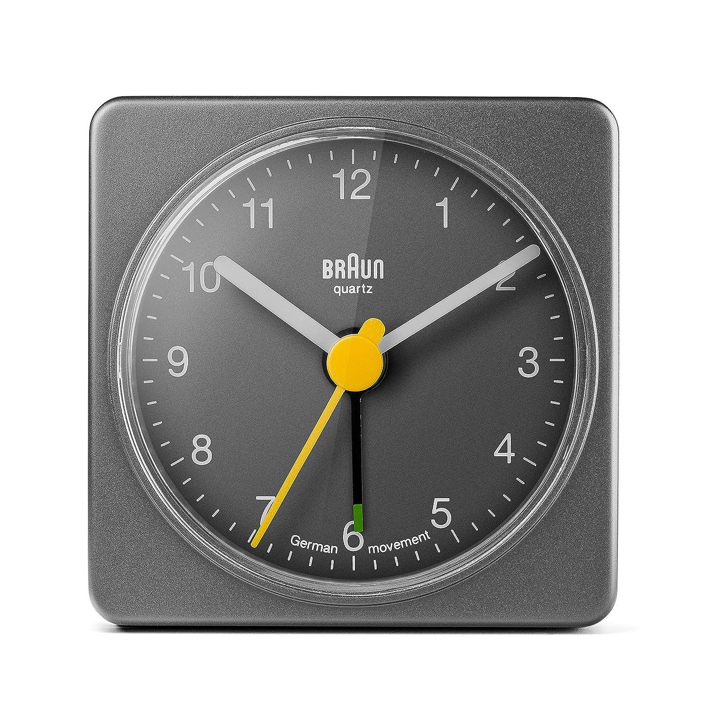 Despertador clásico Braun gris, ideal viajes