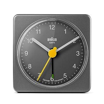 Braun BNC002GYGY Alarm Clock, Plastik, Grey 3.6 x 6.4 x 6.4 cm