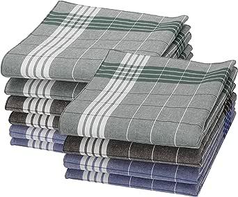Betz 10 piezas pañuelos para hombres o el trabajo, de color verde, azul y marrón de cuadros, tamaño 40x40cm de 100% algodón: Amazon.es: Ropa y accesorios