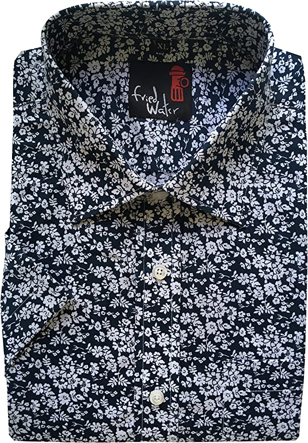 Mens Paisley Floral Aztec Hawaii Reg//Big Size Summer Short Sleeve shirts M-5XL