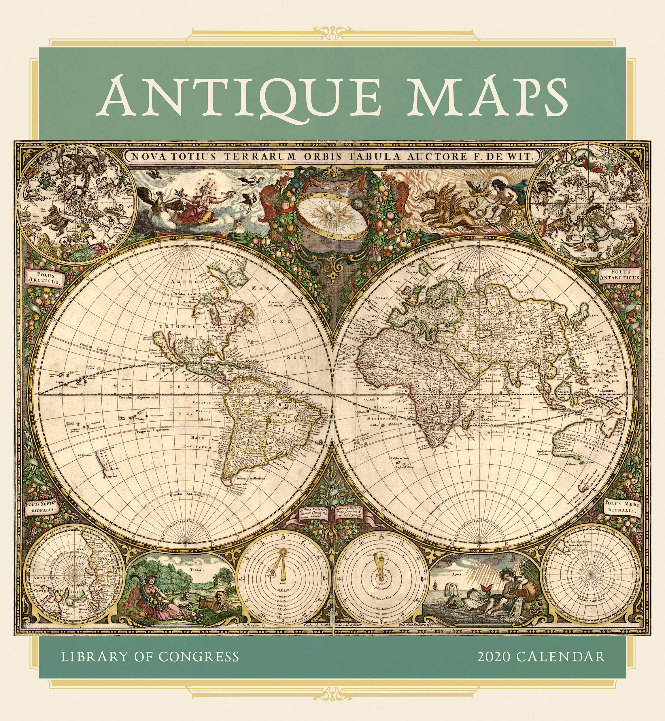 Antique Maps 2020 Wall Calendar by Pomegranate