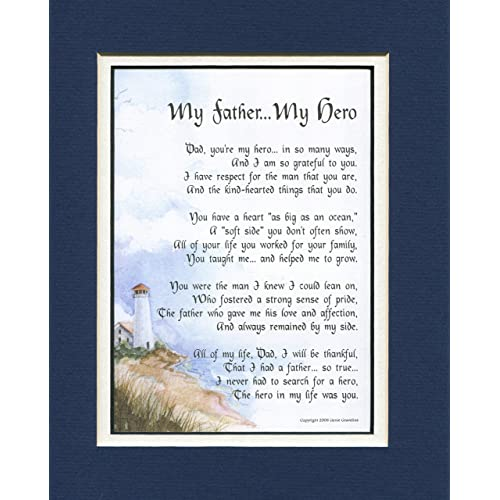 My Father Hero A Fathers Day Gift Poem 60th 70th 80th Birthday Present For