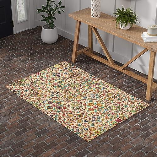 Stone Beam Vinton Persian Runner Rug, 2 3 x 7 6 , Rust Multi