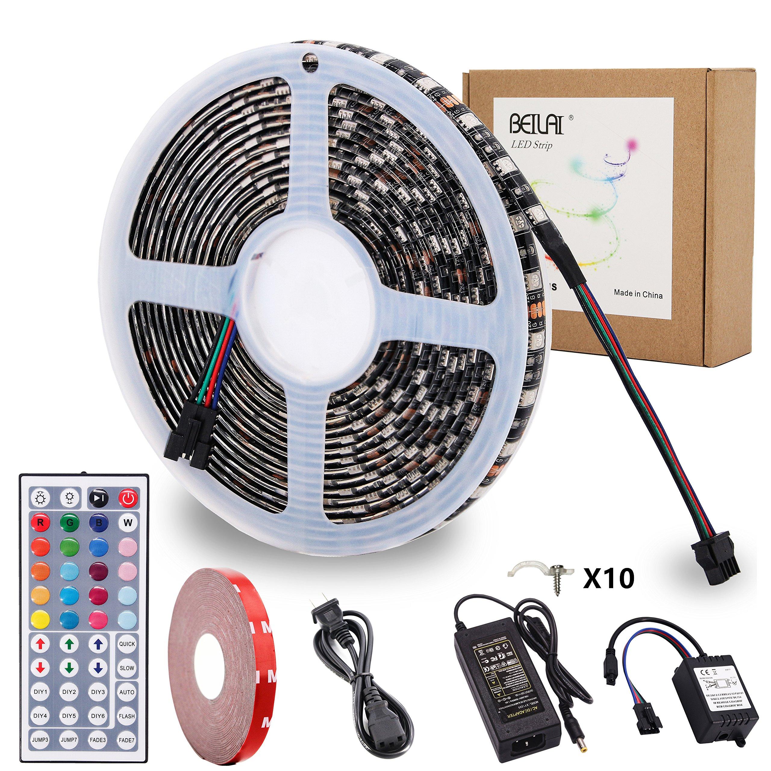 RGB LED Strip Lights Kit BEILAI RGB LED Light Strip Waterproof SMD