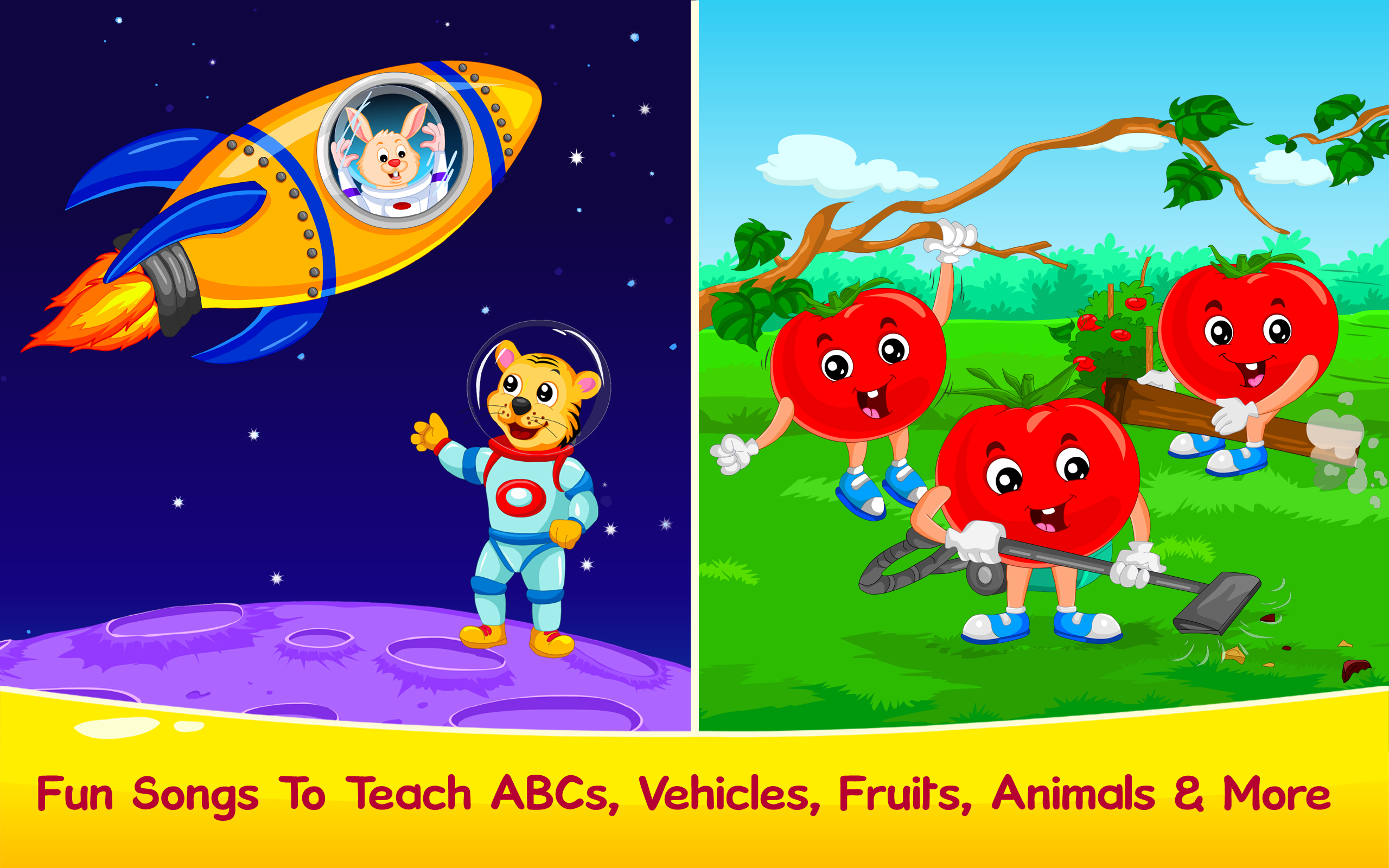 Amazon.com: Kids Learning Games, Nursery Rhymes, Children Stories ...