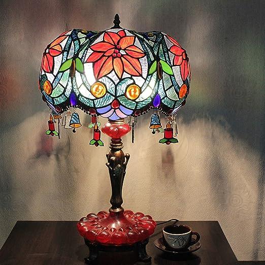 Europea Tiffany Lámpara de mesa de 15 pulgadas Barca Vintage ...