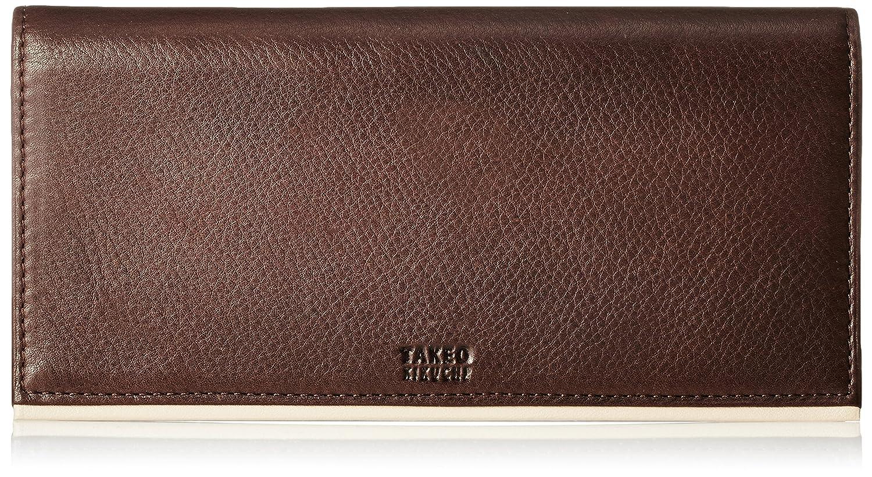 [タケオキクチ] 長財布 パイピング カラーシリーズ TK315016 B01B5HBKDC チョコ チョコ -