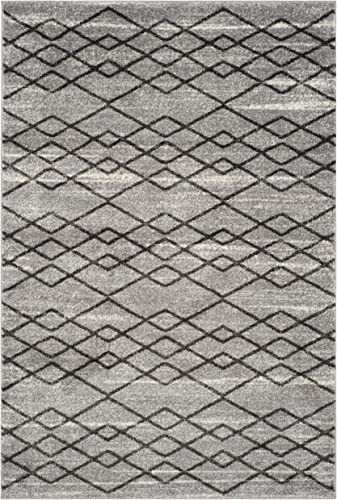 Safavieh Tunisia Collection and Black Area Rug, 9 x 12 , Grey