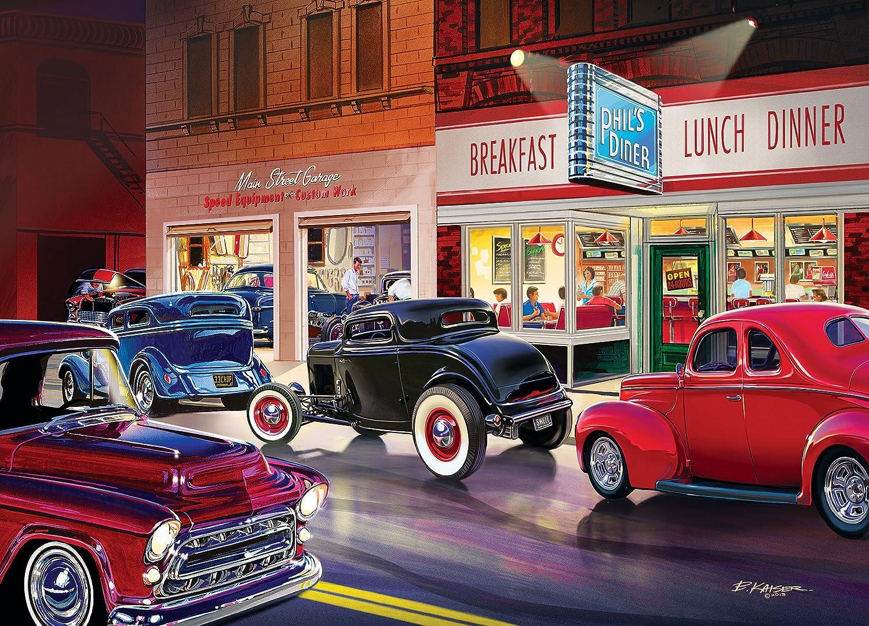 Amazon.com: MasterPieces Cruisin\' Phil\'s Diner - Classic Cars 1000 ...