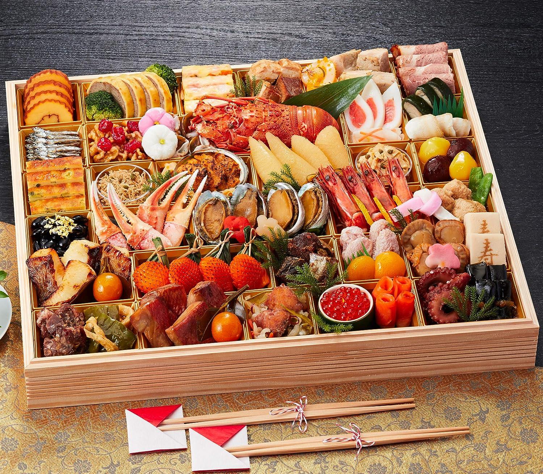 京都 しょうざん おせち料理 2021 超特大 プレミアム 一段重 春華 57品 盛り付け済み 冷凍おせち 約4人前 お届け日:12月30日