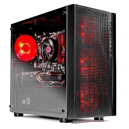 SkyTech [RX580 Version] Blaze VR Ready RGB Gaming Computer Desktop PC -  Ryzen 1200 3 1GHz Quad-Core, AMD RX 580 4GB, 8GB DDR4 2400, 1TB HDD, Wi-Fi,
