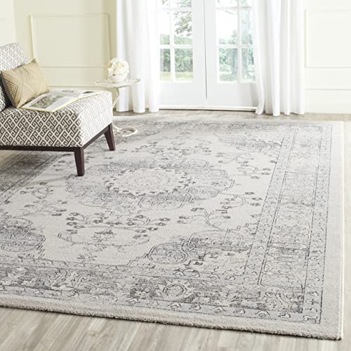 Safavieh Carmel Collection CAR271A Vintage Oriental Beige and Blue Area Rug 8 x 10