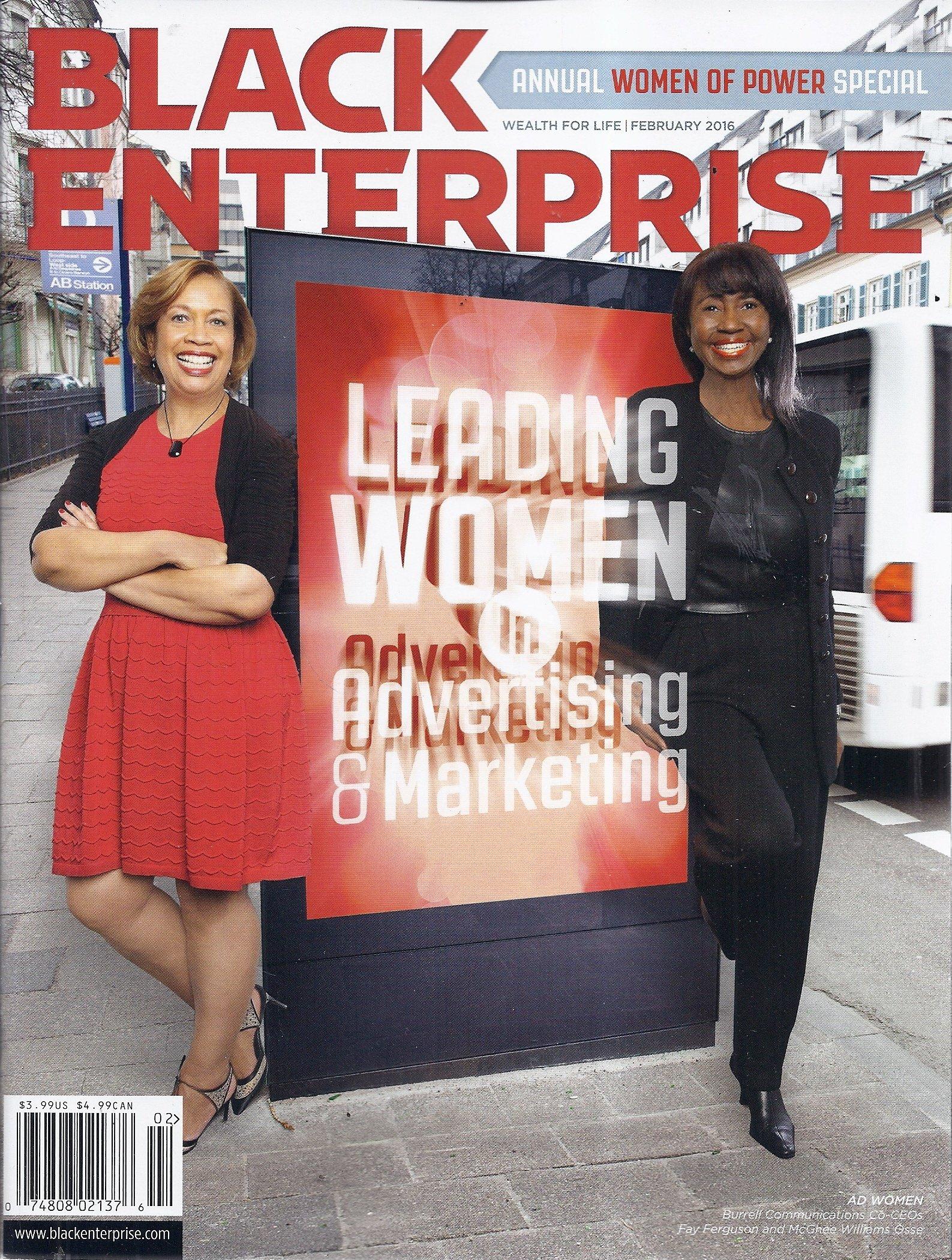 Black Enterprise Magazine (February 2016 - Cover: Fay Ferguson & McGhee Williams Osse) pdf