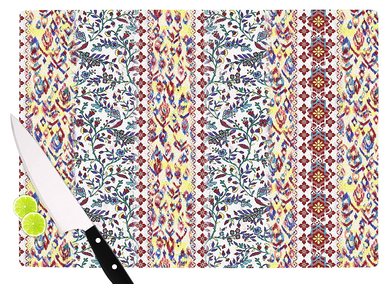 KESS InHouse VK1015ACB01 Victoria KruppArabesque Panel Multicolor Abstract Cutting Board Multi 11.5 x 8.25