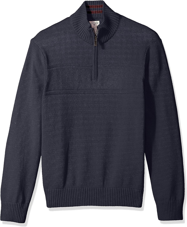 Dockers Mens Long Sleeve Quarter Zip Sweater