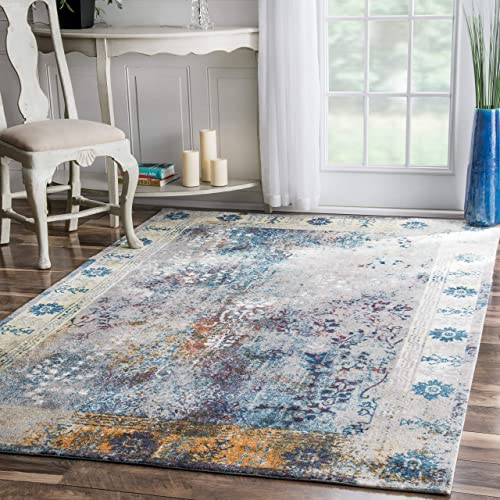 nuLOOM Dotty Vintage Area Rug, 6 x 9 , Blue