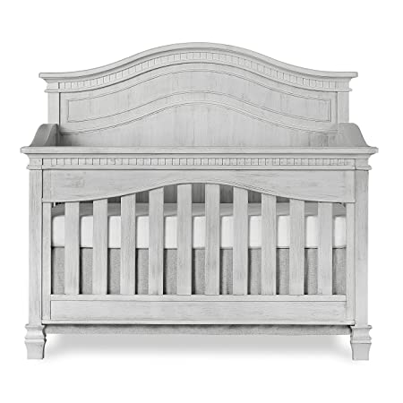 Evolur Cheyenne 5 in 1 Full Panel Convertible Crib, Antique Grey Mist