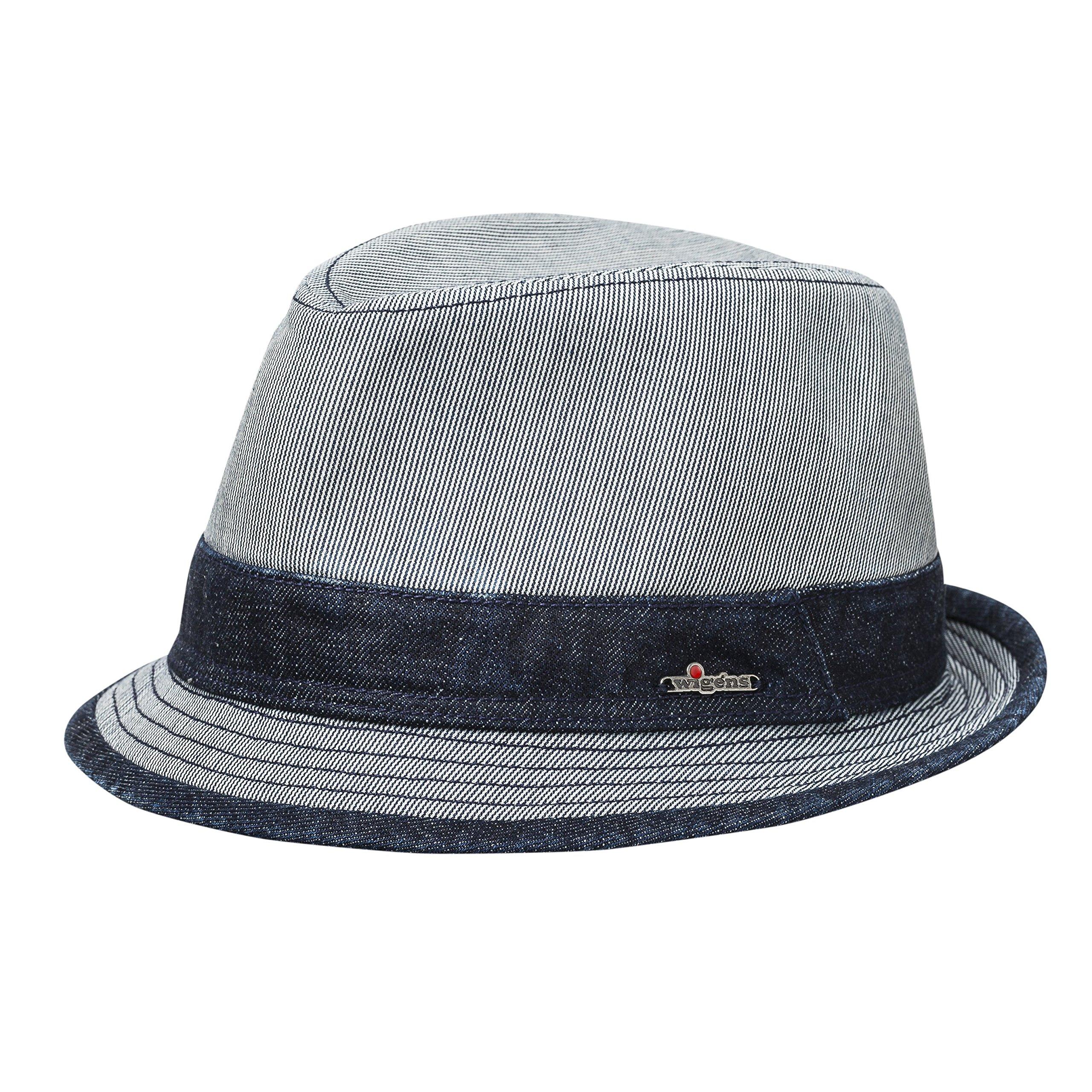 Wigens Frank Trilby Hat-BlueMelange-56