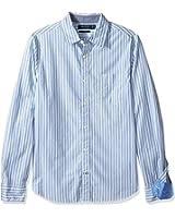 Nautica Men's Long Sleeve Striped Button Down Shirt