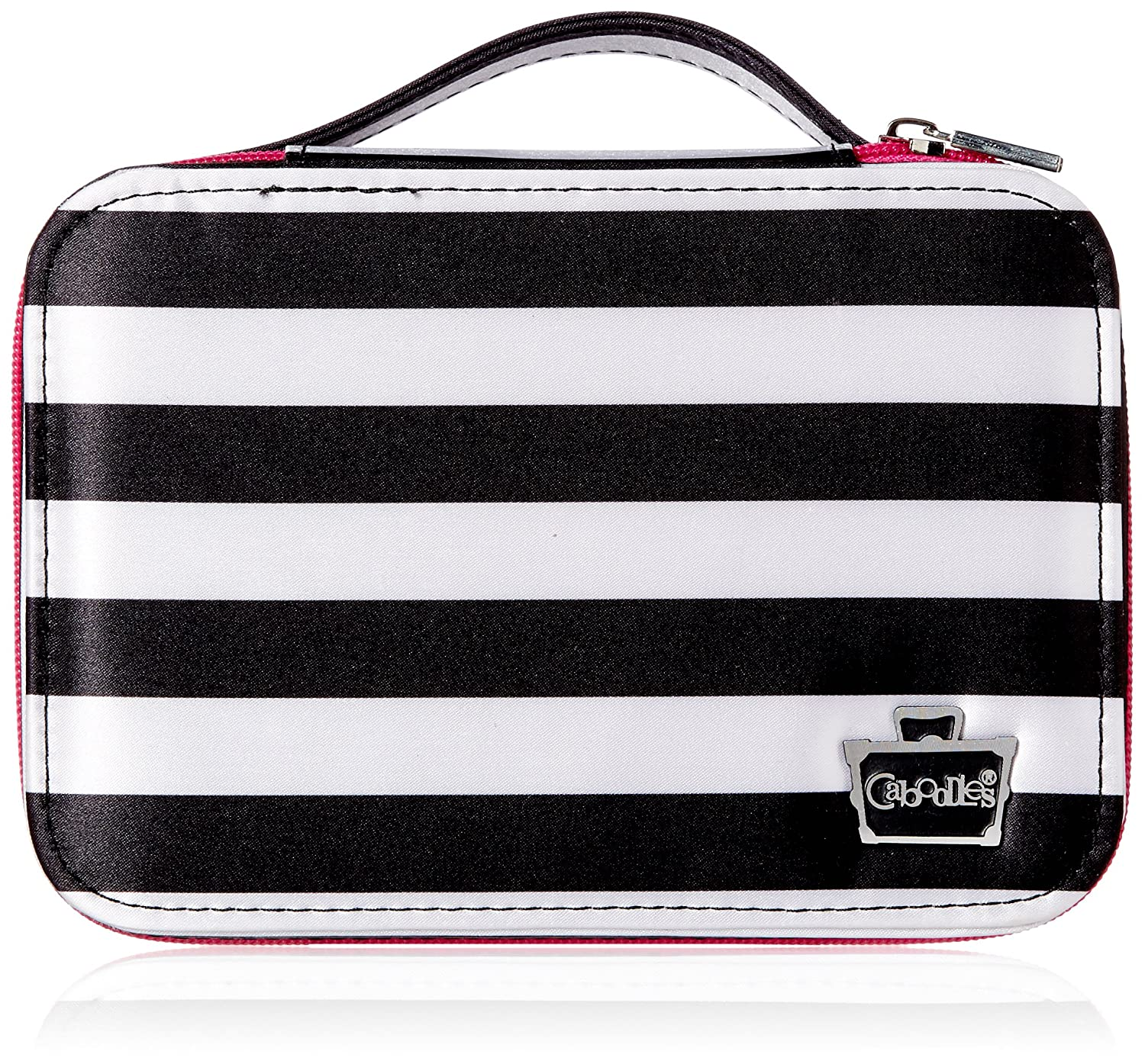 Caboodles Obsession Cosmetic Valet, Black/White Stripe, 0.61 Pound 582489