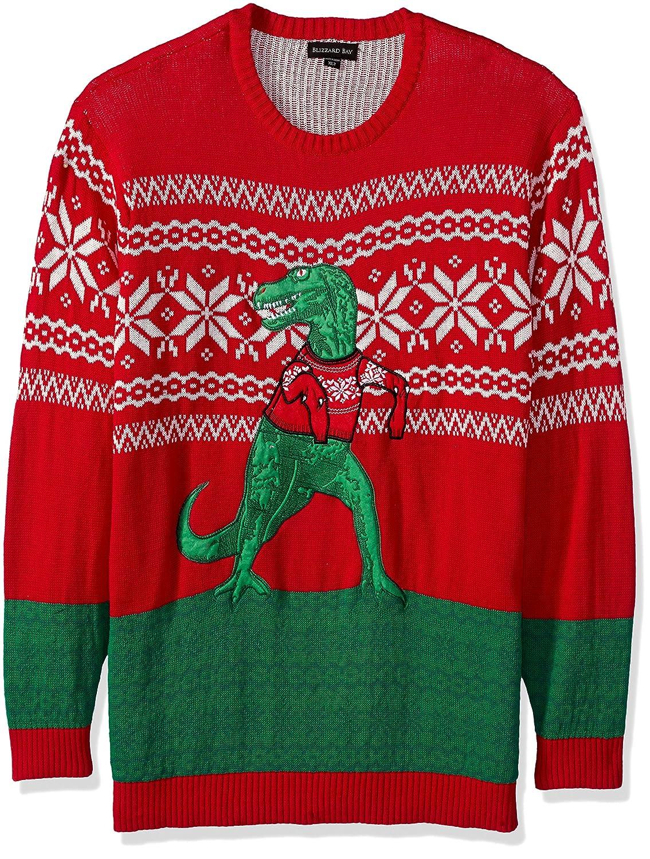 Blizzard Bay Mens Big-Tall Men's Trex Hates Sweater Ugly Christmas Sweater Blizzard Bay Mens Apparel ME20082BT