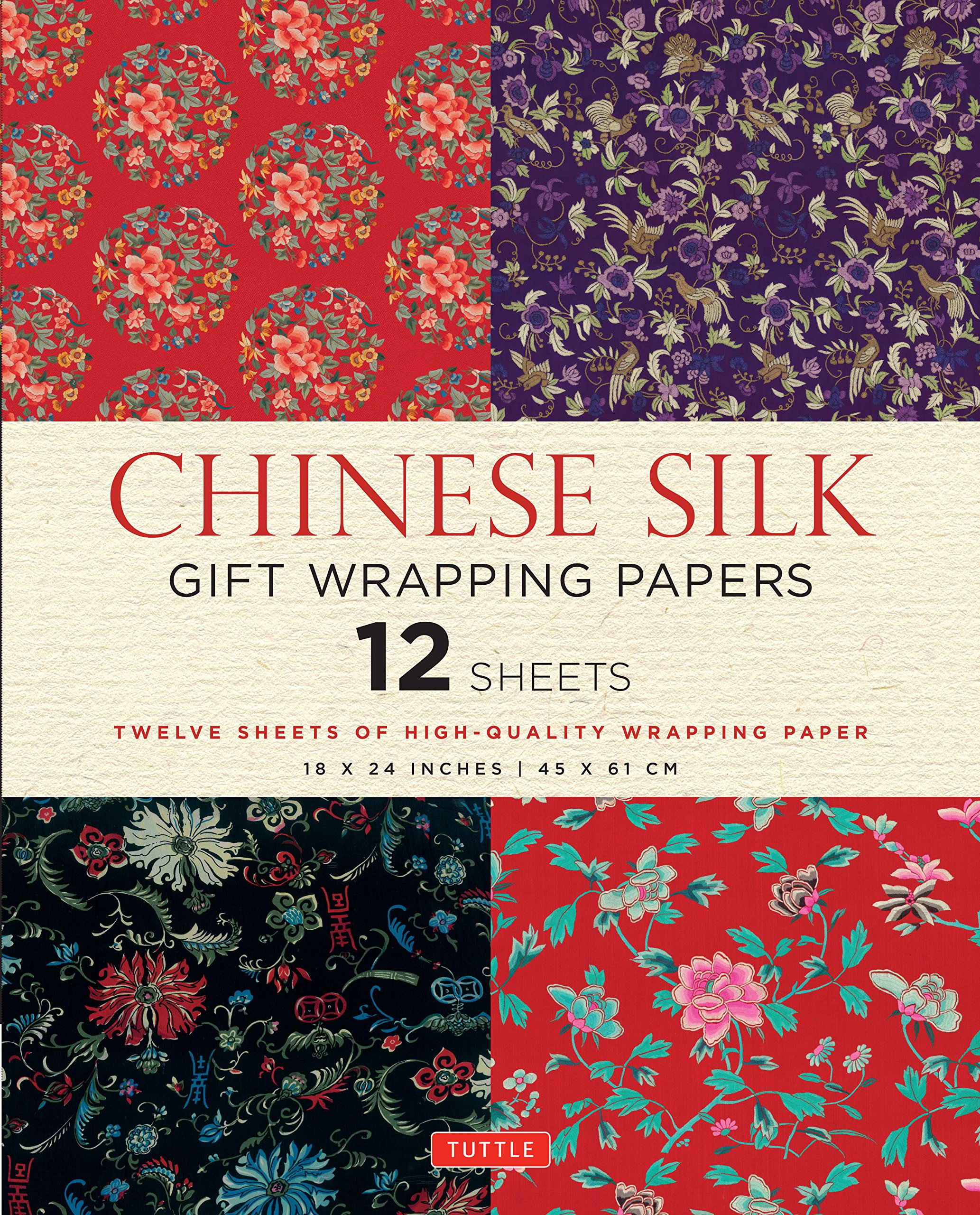 acb233a81 Chinese Silk Gift Wrapping Papers: 12 Sheets of High-Quality 18 x 24 inch  Wrapping Paper Paperback – December 8, 2015. by Tuttle Publishing ...