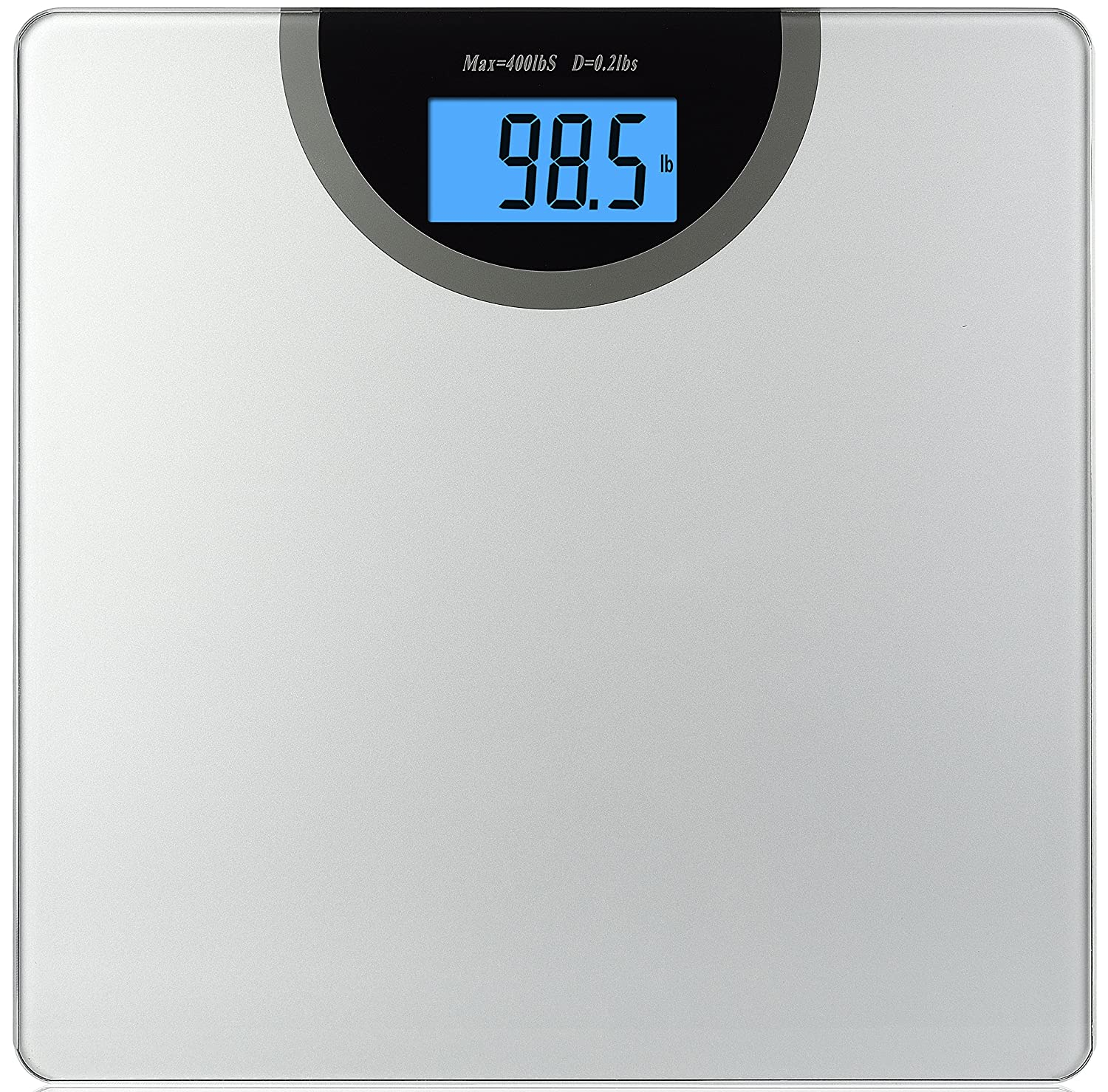 BalanceFrom Digital Body Weight Bathroom Scale with Step-On Technology and Backlight Display, 400 Pounds, Silver BFHA-B400ST