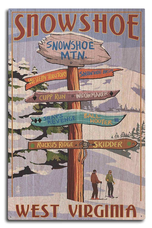 2019人気新作 Snowshoe、West 18 Virginia – Destination Signpost 12 x x 18 15 Art Print LANT-36681-12x18 B0736731Z9 10 x 15 Wood Sign 10 x 15 Wood Sign, コスメティックコリア:c20169db --- afisc.net