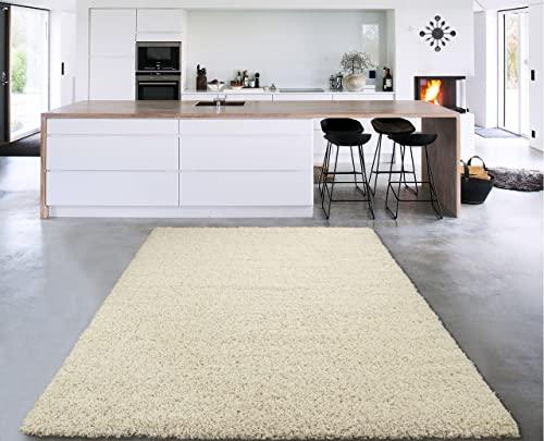 Sweet Home Stores Cozy shag rugs, 7 10 x 9 10 , Cream