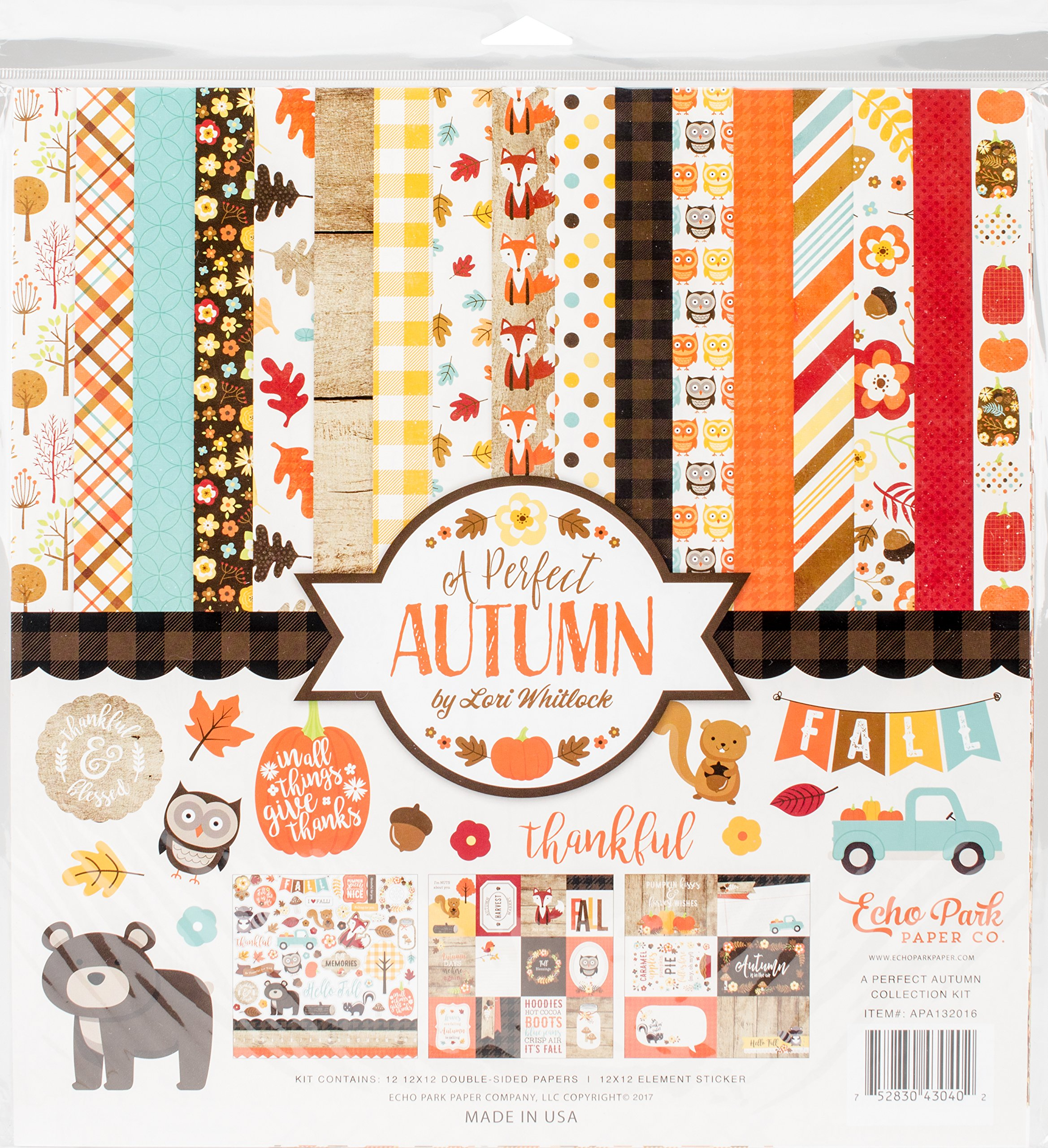 Echo Park Paper Company APA132016 a Perfect Autumn Collection Kit