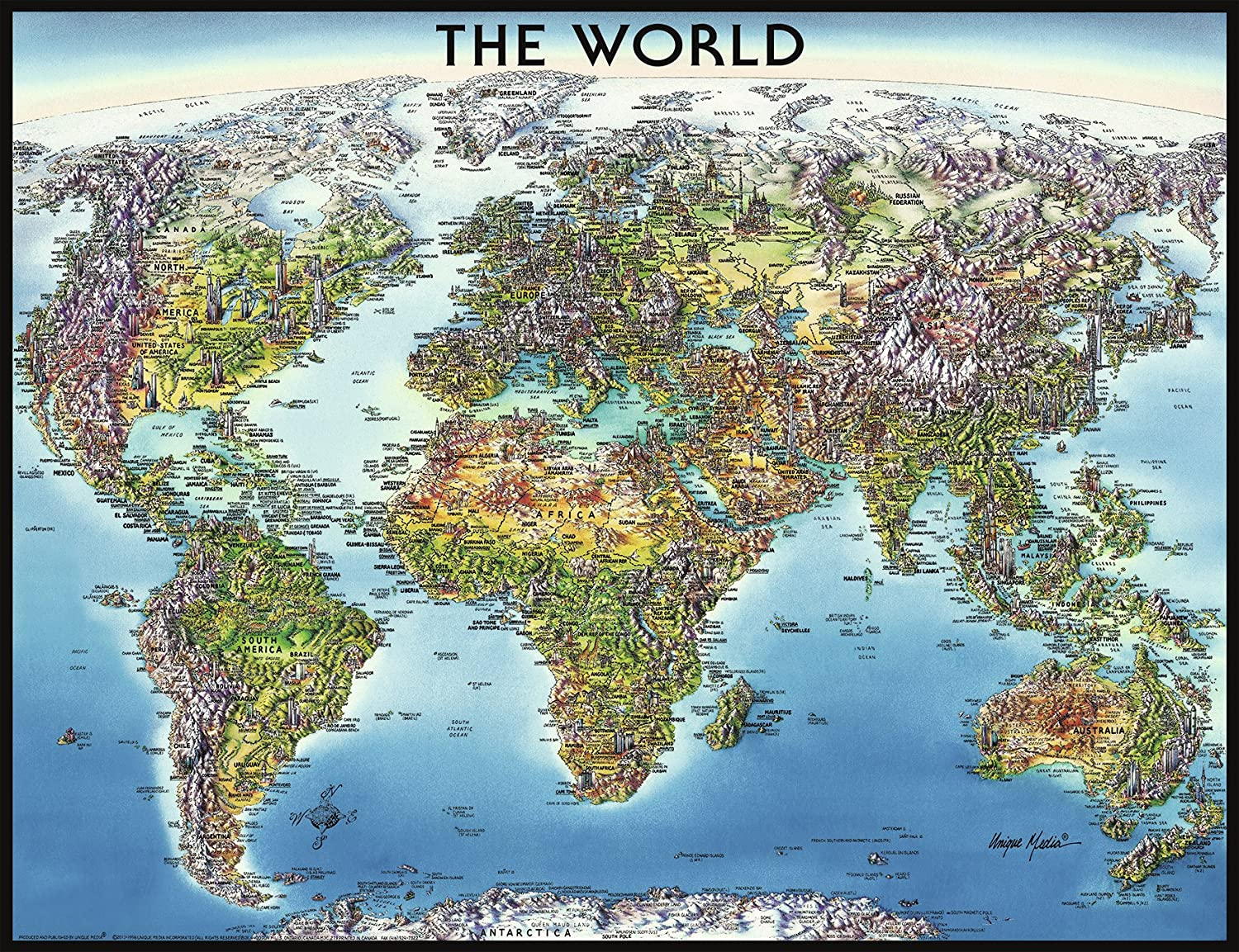 Amazoncom Ravensburger World Map Jigsaw Puzzle 2000Piece