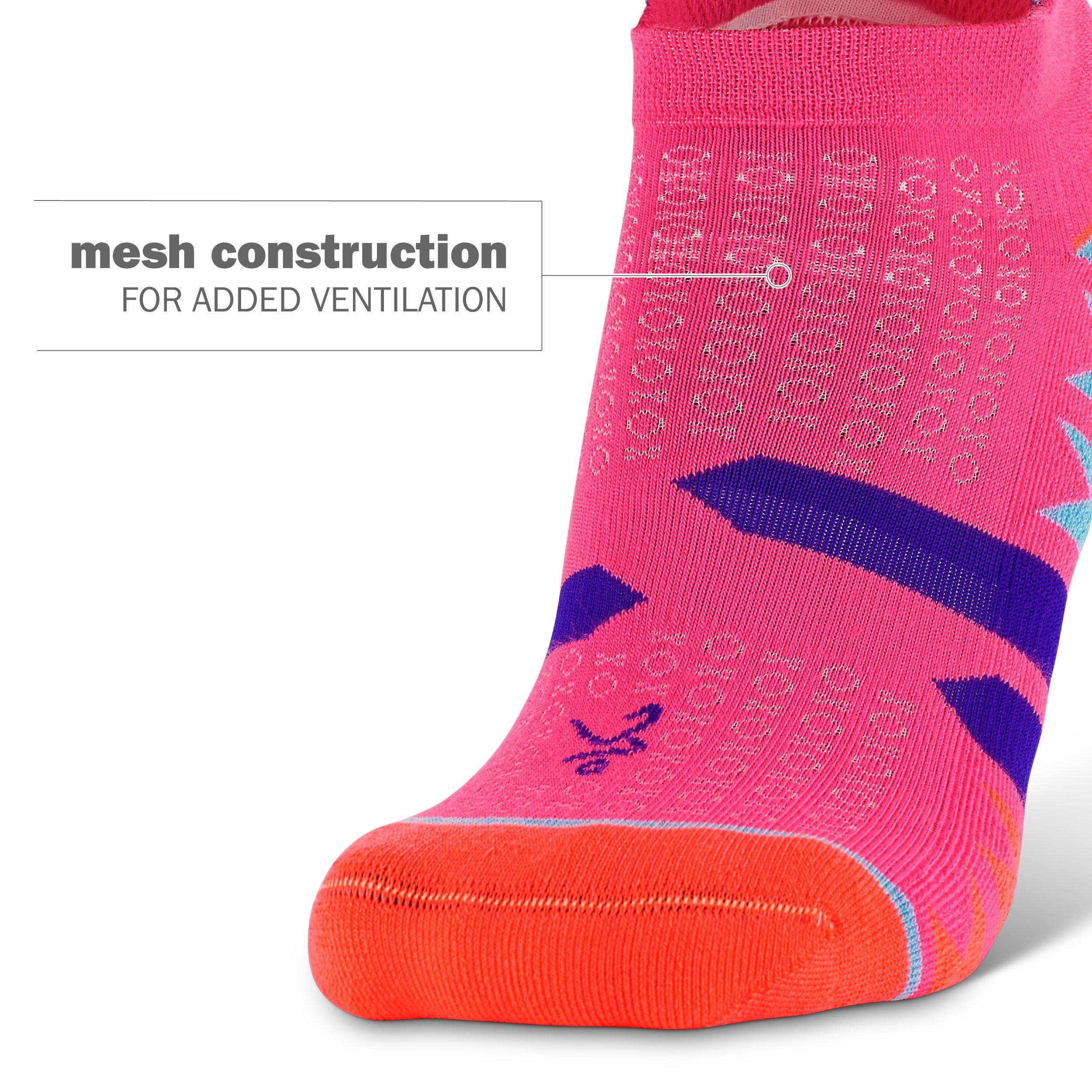 Balega Women's Enduro No Show Socks (1 Pair), Watermelon/Orange, Medium by Balega (Image #3)