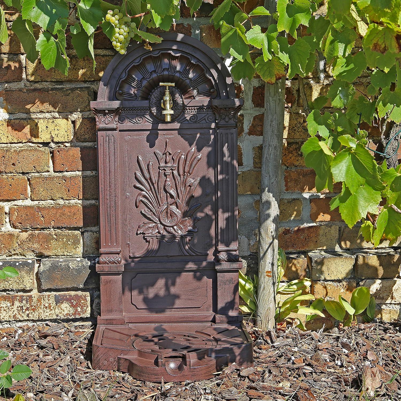 CLGarden WZS6 Fontaine Pompe murale design antique Support pour de jardin