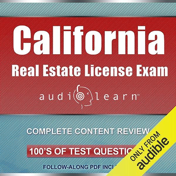Amazon Com California Real Estate License Exam Audiolearn