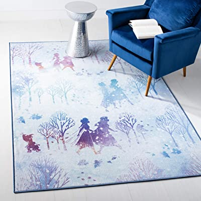 "Safavieh Collection Inspired by Disney's Frozen II - Believe Rug (3' 3"" x 5' 3""): Kitchen & Dining"