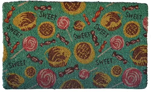 Imports Decor Printed Coir Doormat, Sweet Tooth, 18-Inch by 30-Inch