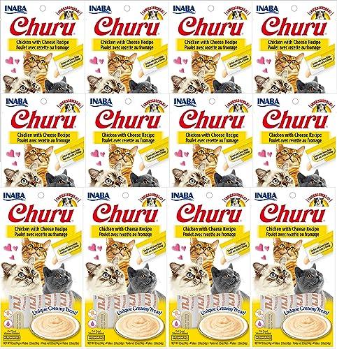 INABA Churu Chicken with Cheese Recipe Lickable Creamy Pur e Cat Treats 48 Tubes