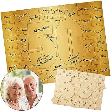 Geschenke 24 Holzmosaik Goldene Hochzeit Kreatives Holz Puzzle