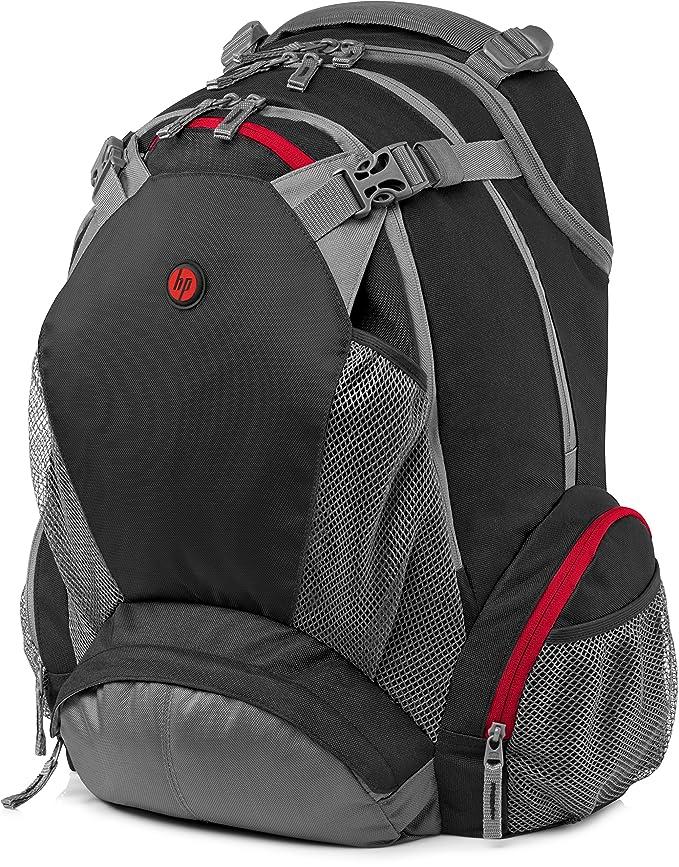 HP 17.3 Backpack - Mochila para ordenador portátil, negro: Amazon.es: Informática