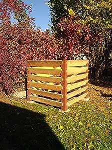 Compostador en RostdesignMENOVUS XXL en moderno diseño oxidado, 1530 litros de capacidad, estructura de madera robusta: Amazon.es: Jardín