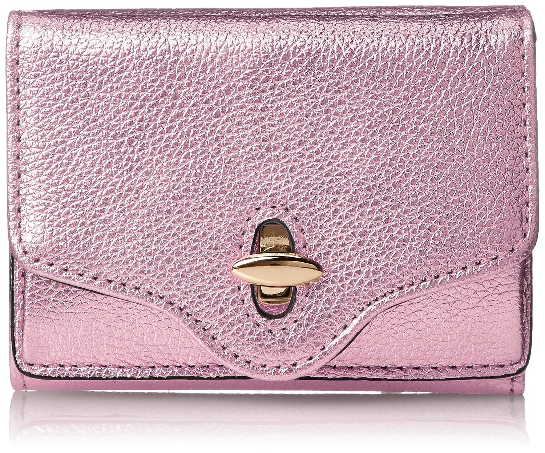 [ハシバミ]ジーンメタリック ミニウォレット B07BG5RQLB ピンク ピンク