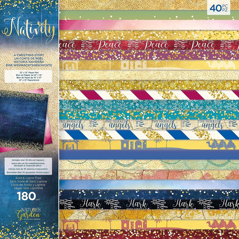 Nature's Garden NG-NAT ACS Nativity-Paper Pad-A Christmas Story, Various