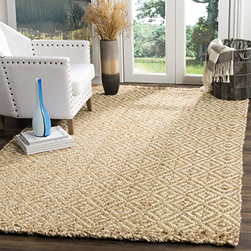 Safavieh Fiber Collection NF261A Hand-Woven Jute Area Rug, 11 x 16 , Ivory Natural